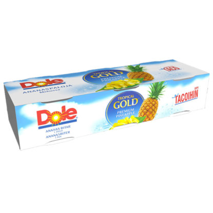 Dole Tropical Gold pienemmät ananaspalat pizzaan 3-pack